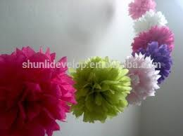 Paper Flower Garlands Tissue Paper Flower Garland For Wedding Party Decoration Buy Paper Flower Garland Tissue Paper Garland Pom Pom Flowers Product On Alibaba Com
