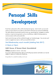 personal skills course rural sky goondiwindi an exciting new personal skills course delivered one evening per month in goondiwindi from 2017 onwards