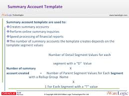 Summary Account R12 General Ledger