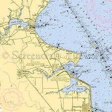 West Galveston Bay Depth Chart Texas Galveston Bay I Nautical Chart Decor