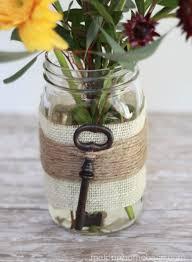 DIY Mason Jar Vases - Embellished Mason Jar Vase - Best Vase Projects and  Ideas for