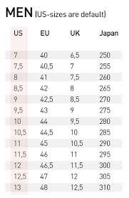 16 Size Charts Diel Sport Size Chart Us To Eu Pants