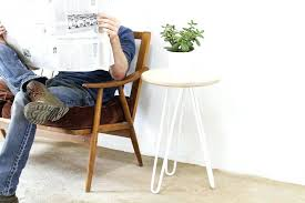 hairpin side table white ply hairpin side table legs