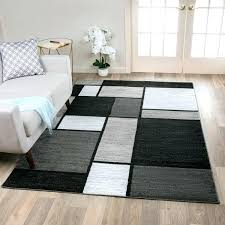contemporary modern boxes grey area rug 53 x 73 53 x 7 3 by 5