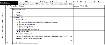 income tax payable balance sheet declaration of assets liabilities in itr forms myitreturn blog