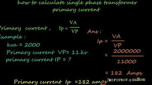 Motor Full Load Amps Chart How To Calculate Single Phase Transformer Full Load Primary Current