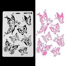 Papillon Pochoirs Pour La Peinture Murale Bricolage Scrapbooking