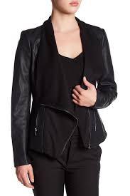 image of olive oak faux leather jacket
