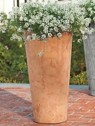 tall terracotta planter. Plain Planter Tall Round Planter  Resin And Stone Outdoor Pot  Solutions On Terracotta L