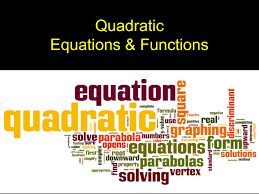 quadratic equations functions 2 x quadratic equations have or some variable squared in them and are equations x2 5x 6 0 2 n 7n 18 2 2x 11x