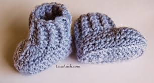 Crochet Booties Pattern Simple Free Crochet Patterns And Designs By LisaAuch 48 Minute Easy