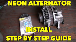 dodge neon alternator wiring wiring diagram library alternator install plymouth dodge neon caravan step by step 96 dodge dakota alternator wiring