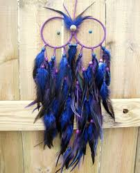 What Stores Sell Dream Catchers SALE Owl Dream Catcher Blue and Purple Extra Large Feather 28