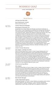 hr executive recruiter resume samples nurse recruiter resume