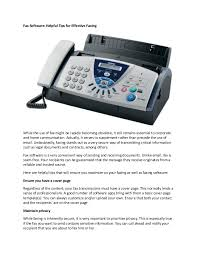 electronic fax free fax software helpful tips for effective faxing