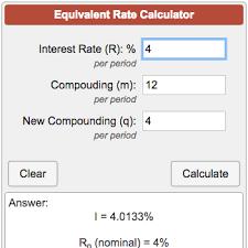 Equivalent Interest Rate Calculator