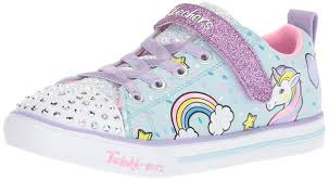 Light Blue Skechers Details About Kids Skechers Girls Unicorn Cazu Low Top Lace Up Light Blue Multi Size 11 5 4y