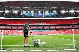 ويمبلي جاهز لاستضافة نهائي يورو 2020 بين إيطاليا ضد إنجلترا.. صور : صحافة  الجديد رياضة