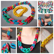 view in gallery chain necklace and bracelet with rubber band f