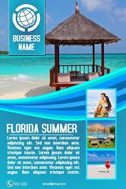 Travel Agency Poster Flyer Social Media Custom Template Travel