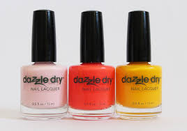 dazzle dry nail polish in strawberry macaron tutti frutti smoothie i m beachy
