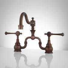 vintage bridge kitchen faucet lever handles with regard to