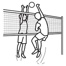 Volleyball Color Pages Volleyball Coloring Pages Volleyball To Color