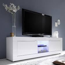 Meuble Tv Blanc Laque Design Avec Led Galena
