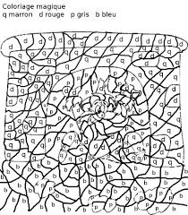 Coloriage Magique Avec Dessin Dragon A Imprimerll L