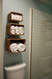 photo gallery of bathroom towel storage