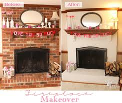 exceptionally easy and dramatic fireplace makeover if you have a brick fireplace you can have