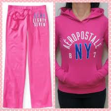 Aeropostale Ladies Fleece Hoodies Sweatpants Combo Size M