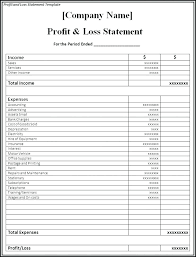 Simple Profit And Loss Template Excel Pdf Janeefraser Com