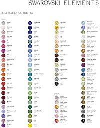 Swarovski Ab Color Chart Swarovski Colour Chart Google Search Crystal Rhinestone