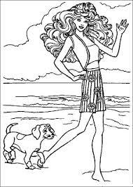 Barbie Laat Honden Uit Kleurplaat Gratis Kleurplaten Printen