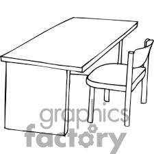 table clipart. table and chair clipart black white.