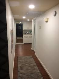 Can Lights In Hallway Hallway With A C Duct They Wanted Recessed Lights Installed
