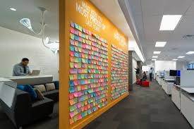creative office walls. Creative Office Design. Outsell\\u0027s Post-it Note Wall Of Achievements, Photo Walls I
