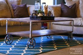 Diy Industrial Coffee Table Pneumatic Addict Easy Industrial Coffee Table No Welding