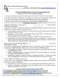 Accounts Receivable Specialist Resume Sample Collections Specialist Resume Sample Krida 18
