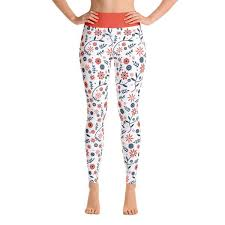 Patterned Yoga Pants Extraordinary Flower Power Patterned Yoga Pants Inners