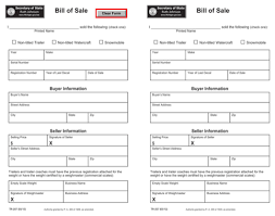 Download Michigan Bill Of Sale Form For Free - Formtemplate