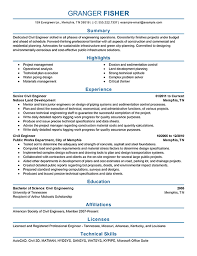 Best Civil Engineer Resume Example From Professional Resume Writing