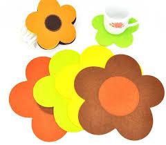 #FG105 Colorful sun follower thermostability creative coasters mats ...