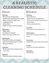 A Realistic Cleaning Schedule You Can Stick With House