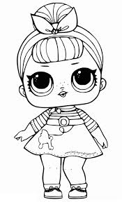 Lol Doll Coloring Pages To Print Free Lol Doll Coloring Lol Doll