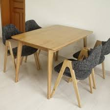 ... Large Size Solid Wood Dining Tables And Chairs Combination Square Oak  Inside Table At San Fransisco ...