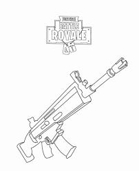 Kleurplaat Ronaldo Fris Fortnite Rifle Scar Coloring Page Fortnite