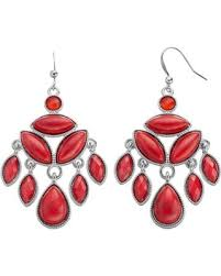 red chandelier earrings red cabochon marquise chandelier earrings womens multicolor black rhinestone chandelier earrings