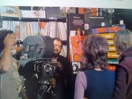 streamline the official filmstruck blog a clockwork orange filming mcdowell at the record store